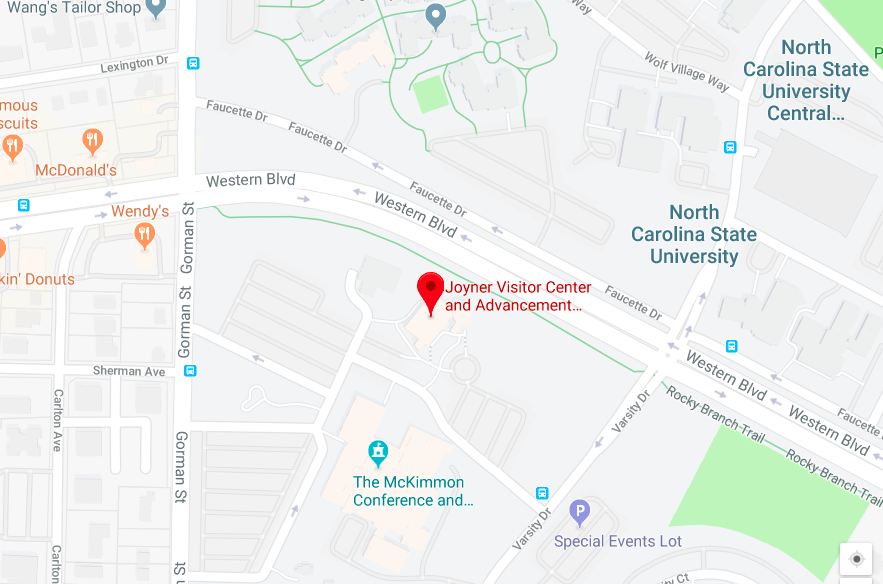 Google Map: NCSU Onboarding Center